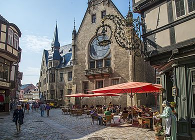 Seitliche Sicht Rathaus