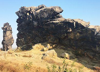 Die Teufelsmauer in Thale