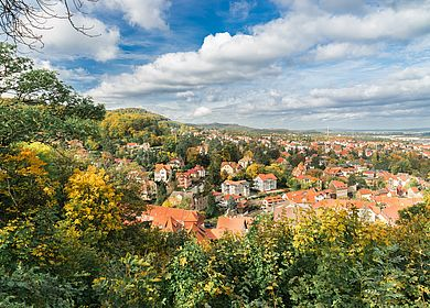 Herbstblick über Blankenburg