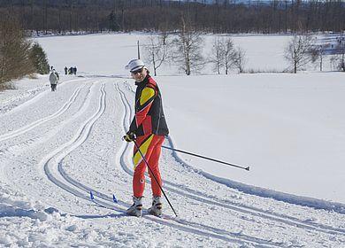 Schneelandschaft - Skifahrer